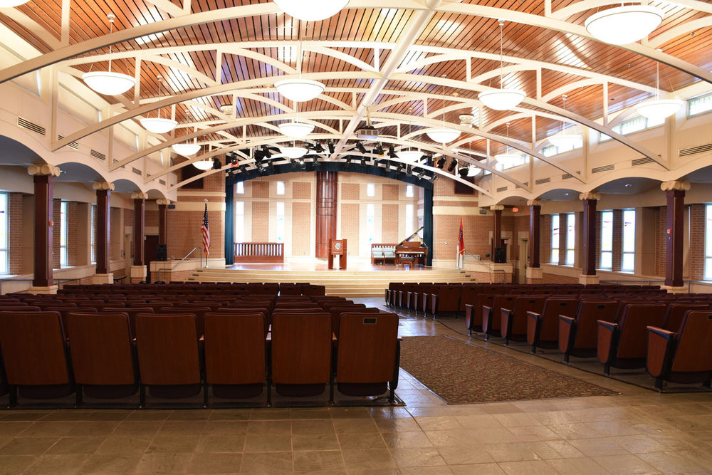 chapel auditorium at the jones center