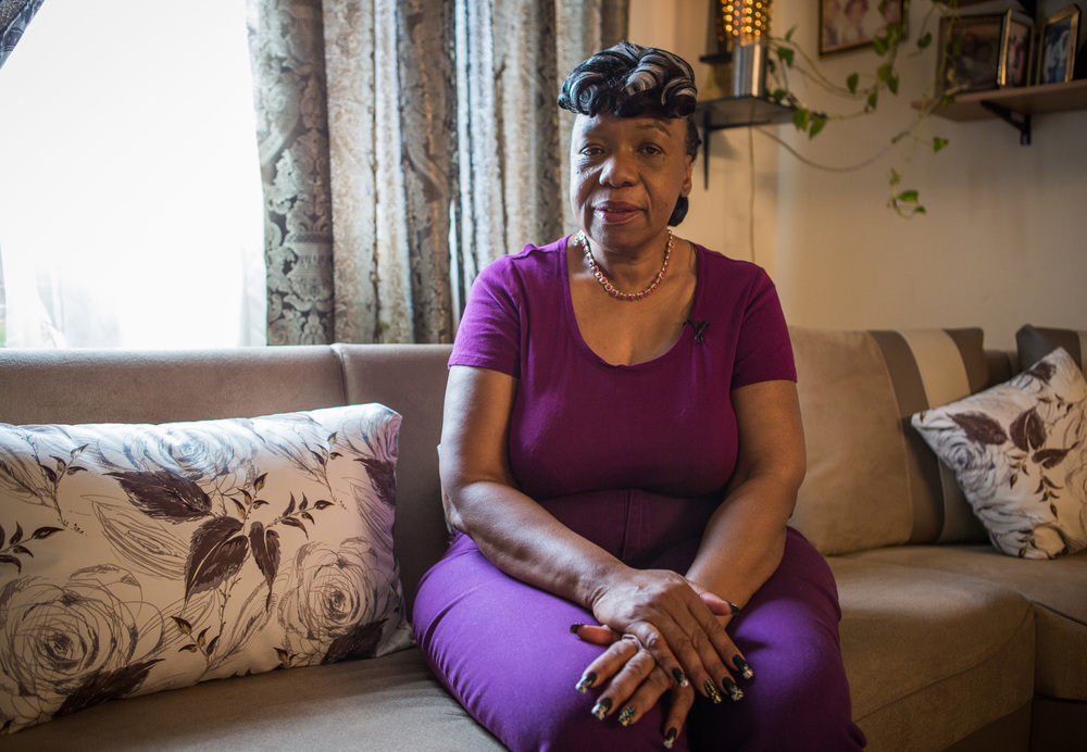 Gwenn Carr, mother to Eric Garner, whose death at the hands of the NYPD drew national attention and ignited public protest against police brutality, at her home in Staten Island, New York, for  Women in the World .