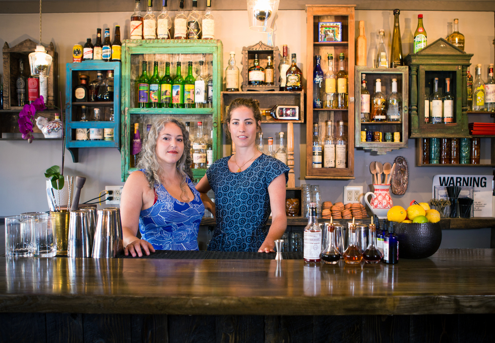 Ivy Mix and Lynnette Marrero,  co-founders of Speed Rack, an international bartending competition for women, at their bar, Leyenda, in Brooklyn, NY, for  Women in the World .