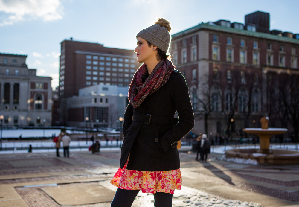 Abby Stein, a transgender Jewish woman who left the Ultra-Orthodox community where she grew up in Williamsburg, Brooklyn to attend Columbia University and begin hormone therapy, for  Women in the World