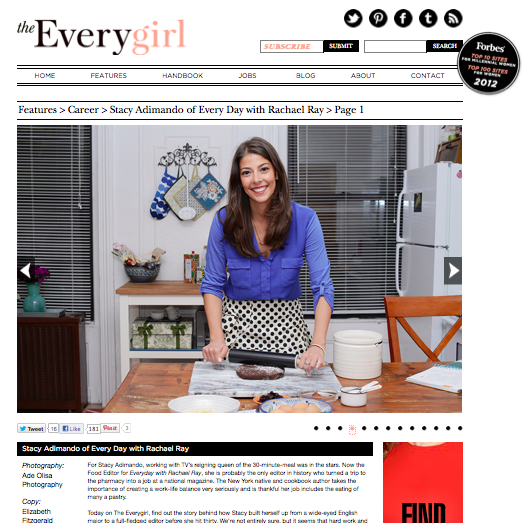 from TheEverygirl .com,   Career feature,  November 2012