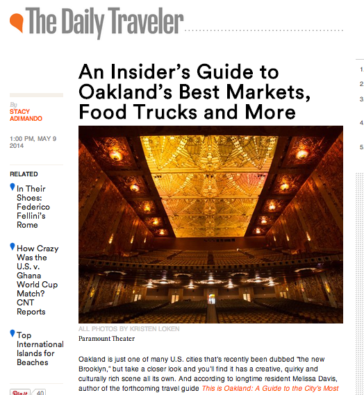 Gondola rides, historic movie theaters and more in this Oakland guide for CondeNastTraveler.com