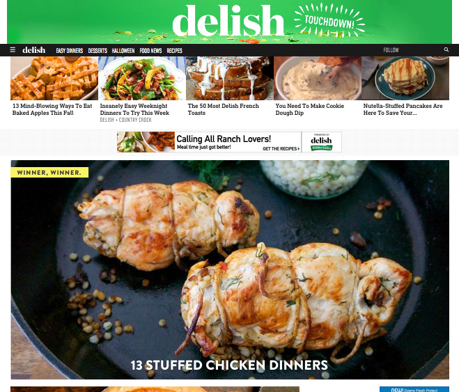 Recipe feature for Delish.com - September '15