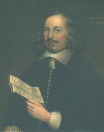 This portrait of Edward Winslow was done in London in 1651.  It is the only well-authenticated portrait of a Mayflower passenger.  It is on display at the Pilgrim Hall Museum in Plymouth.