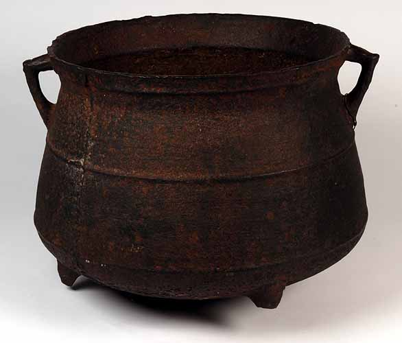This iron cooking pot is believed to have belonged to Myles Standish.  It is on display at the Pilgrim Hall Museum in Plymouth.