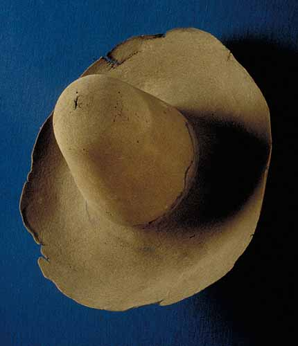 This beaver hat is thought to have belonged to Mayflower passenger Constance Hopkins.  It can be seen today at the Pilgrim Hall Museum in Plymouth.