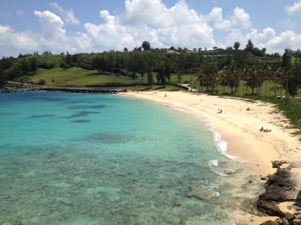 This is the beach that the  Sea Venture  castaways, including Stephen Hopkins, first came ashore after their shipwreck in Bermuda.