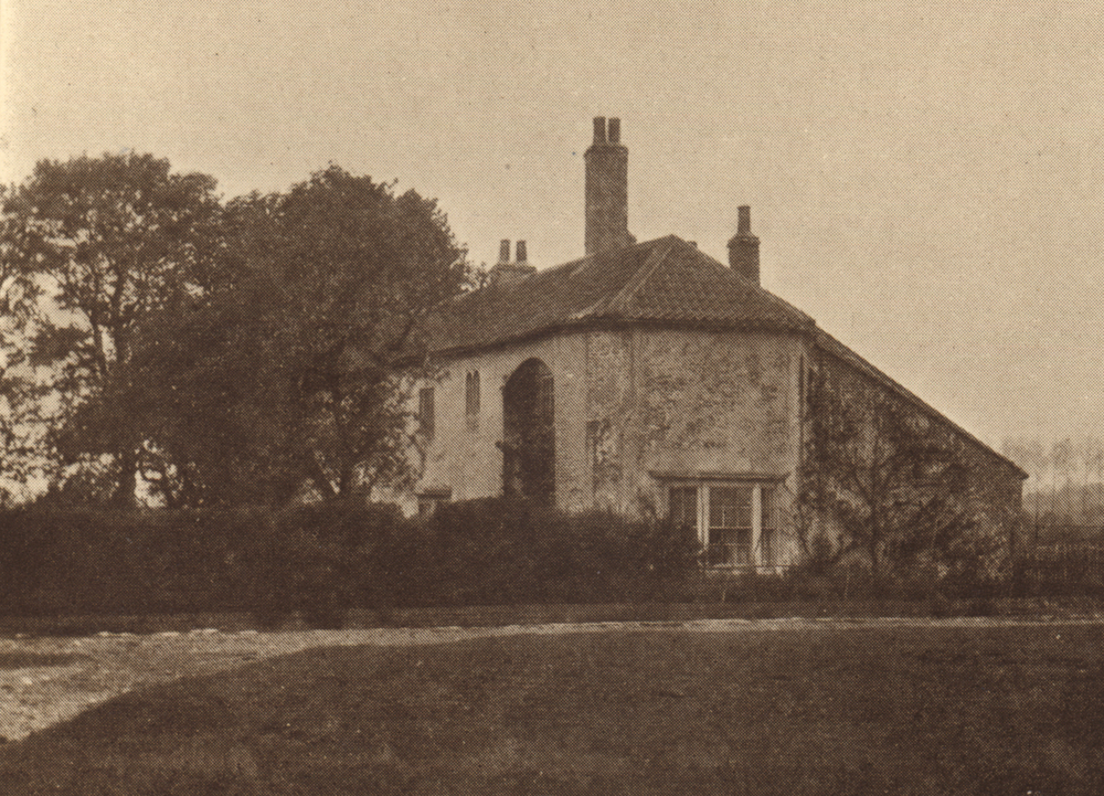 A 19th century photograph of Scrooby Manor, where William Brewster lived and served as postmaster, and where the early Separatists held some of their secret meetings.