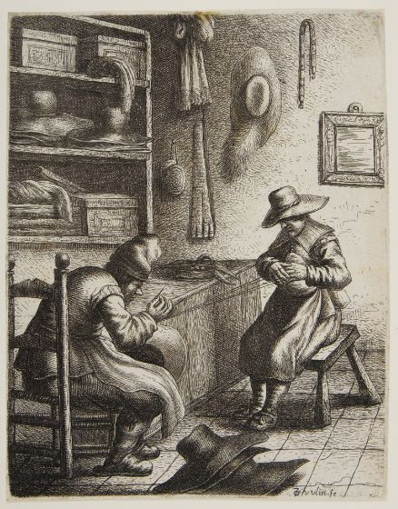 Dutch hatters at work, cir. 1635.