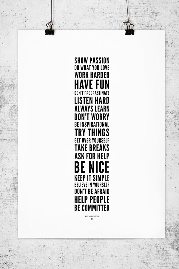 Show Passion Typographic Poster by Rob Bye - Typography, Graphic, Design