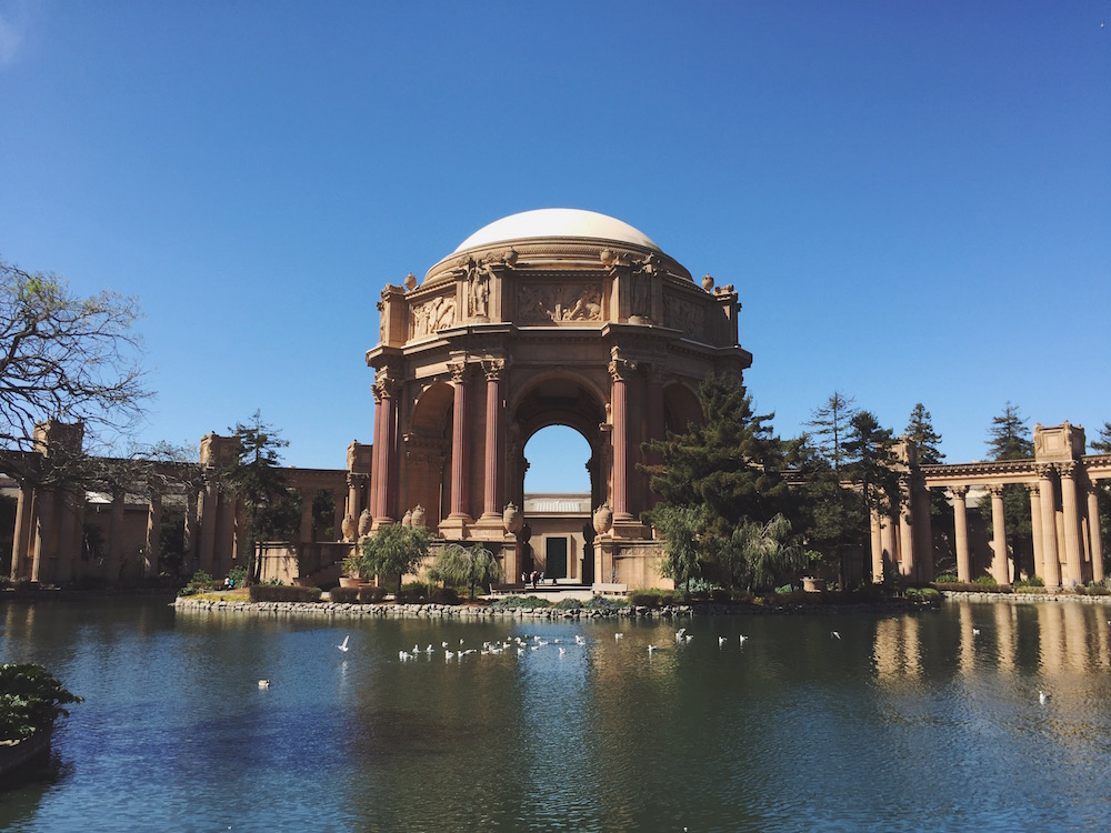 Wearable World is base here in the Palace of Fine arts in SF
