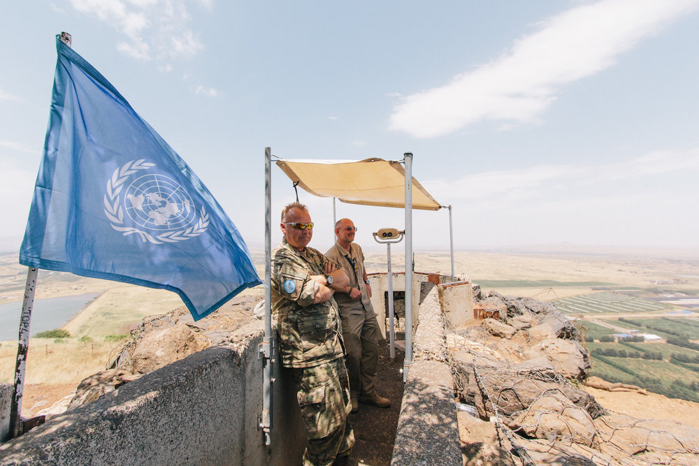UN presence - We also had the opportunity to chat to some of the UN servicemen working near Merom Golan and heard a few stories about their time operating in the area.