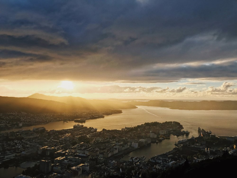 Bergen - We stayed on a hillside overlooking Bergen and spent the first day wondering around the city and planning on where to spend the next few days. There's plenty to see and do, in addition to a few hikes near by.
