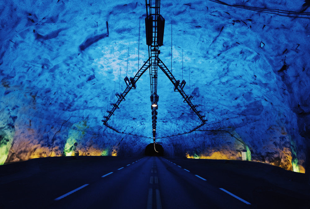 Lærdalstunnelen - One of the reason we drove over the Fjord was to actually drive underneath it. This 25km tunnel(!!!) has 3 really impressive caverns with blue lighting which are completely surreal.