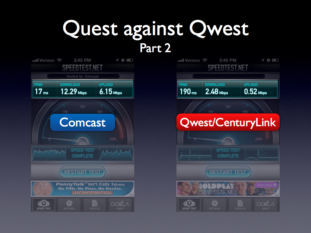 First World Problems - My Quest against Qwest