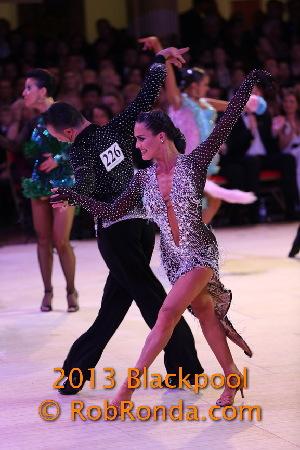Andra & Mauricio, Canada Professional Latin Championships, Blackpool 2013 Photo by Rob Ronda