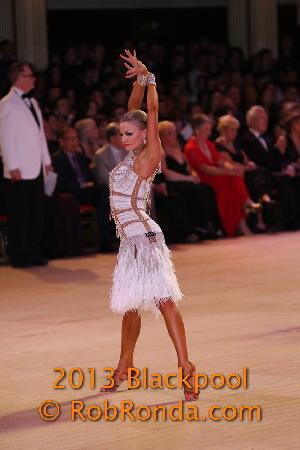 Yulia Zagoruychenko Professional Latin Championships, Blackpool 2013 Photo by Rob Ronda