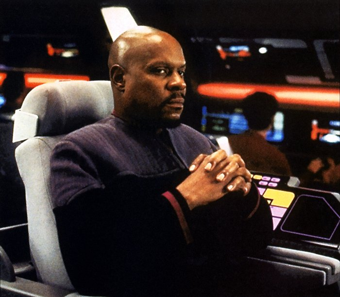 Captain Benjamin Lafayette Sisko from  Star Trek.