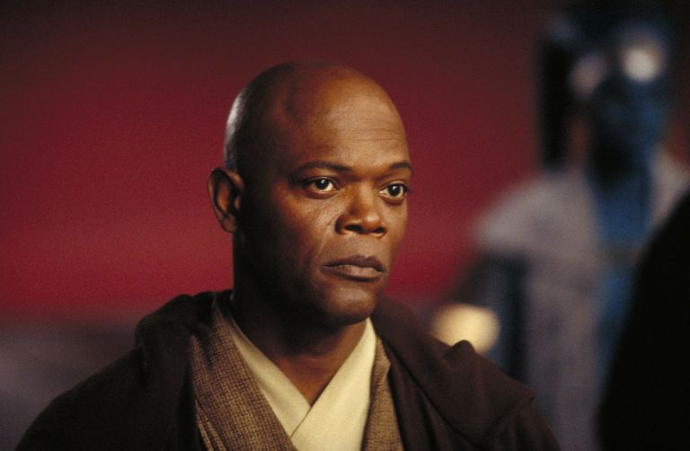 Mace Windu in  Star Wars.