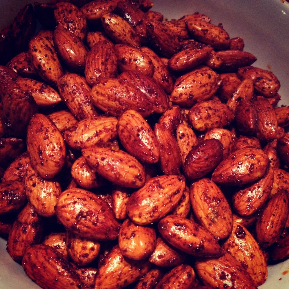 ... will stick to the paper towels spicy bourbon smoked paprika almonds
