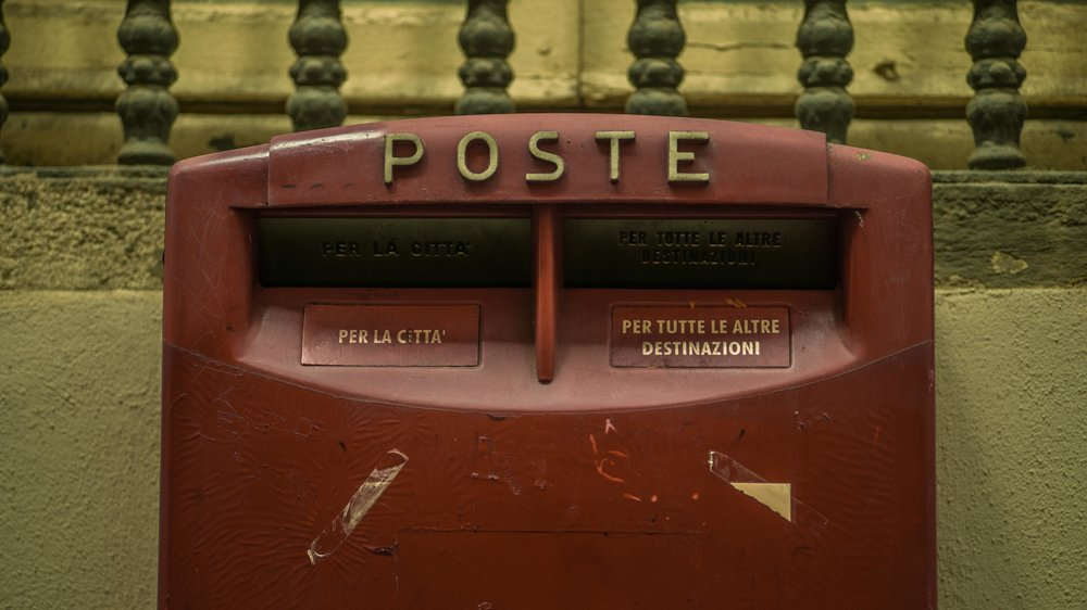 Italian post box, Lake Como, Italy