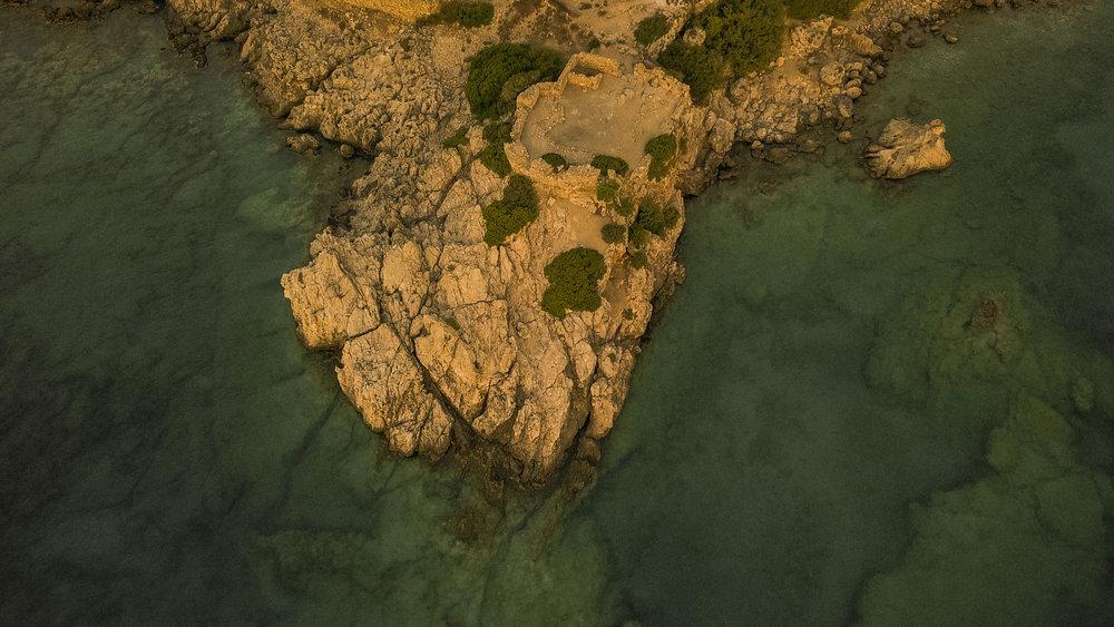 Drone shot of Loutro, Crete