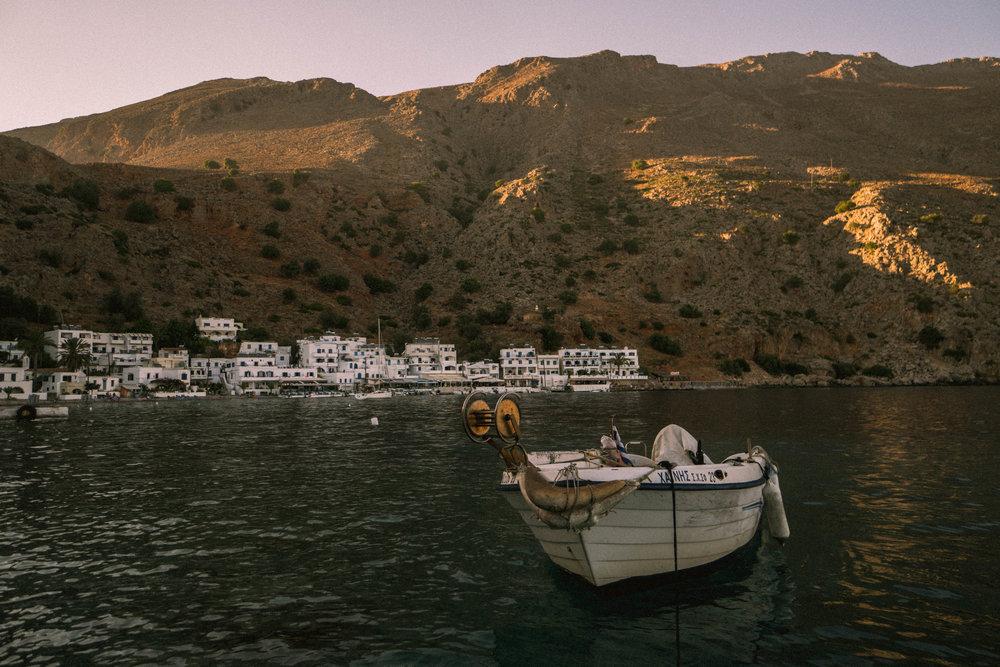 A fishing boat in Loutro, Crete