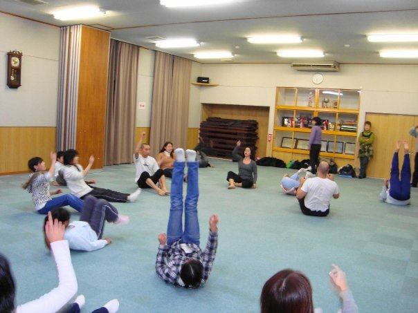 Clown and Physical Theater Workshop- Ichikawa, Japan- Participants included intellectually disabled and non-disabled community members ranging from age 7- age 80