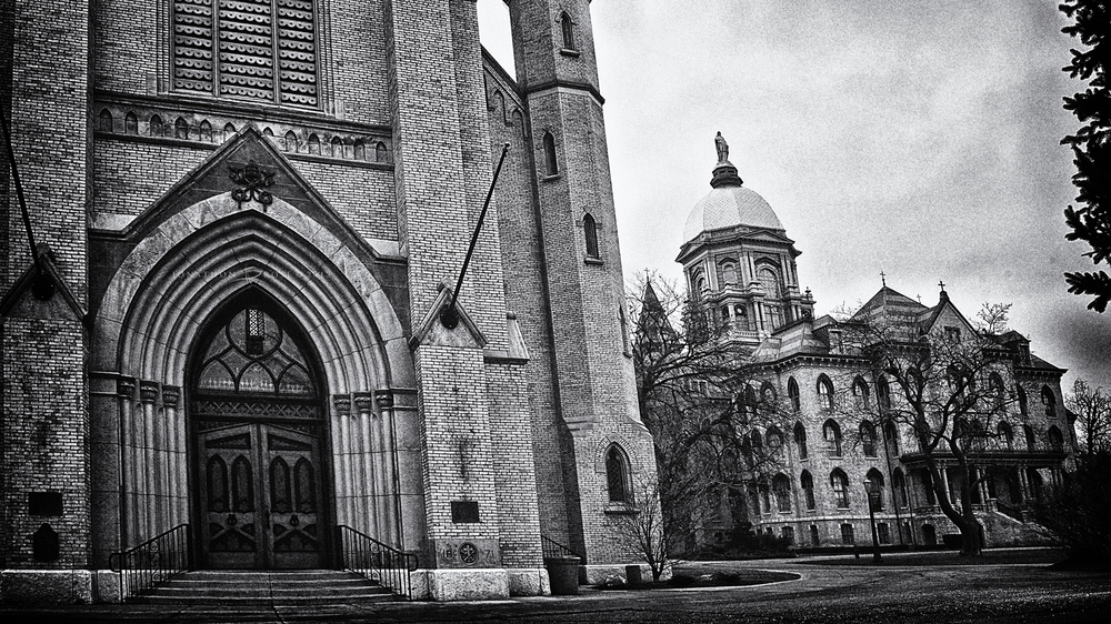 Basilica Exterior at Notre Dame