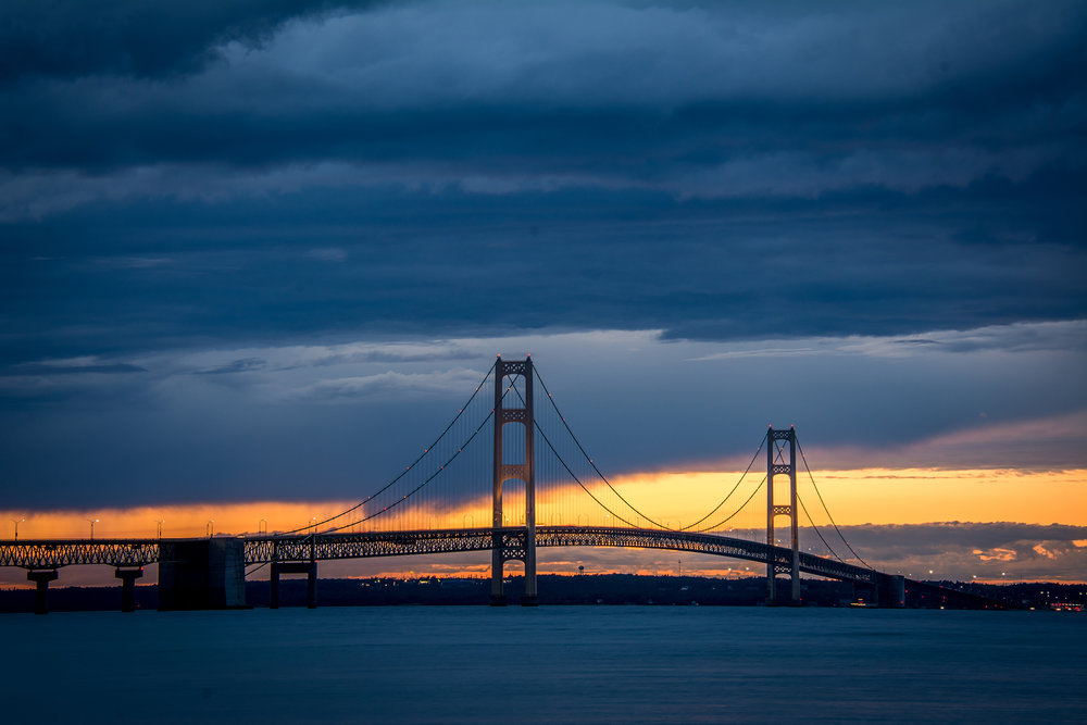 Mackinac Bridge Sunset  2017