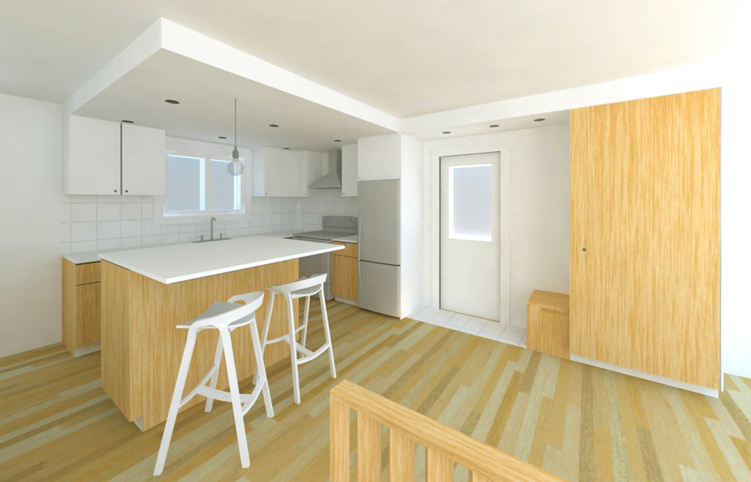 Réaménagement intérieur d'un bungalow, Québec, QC.