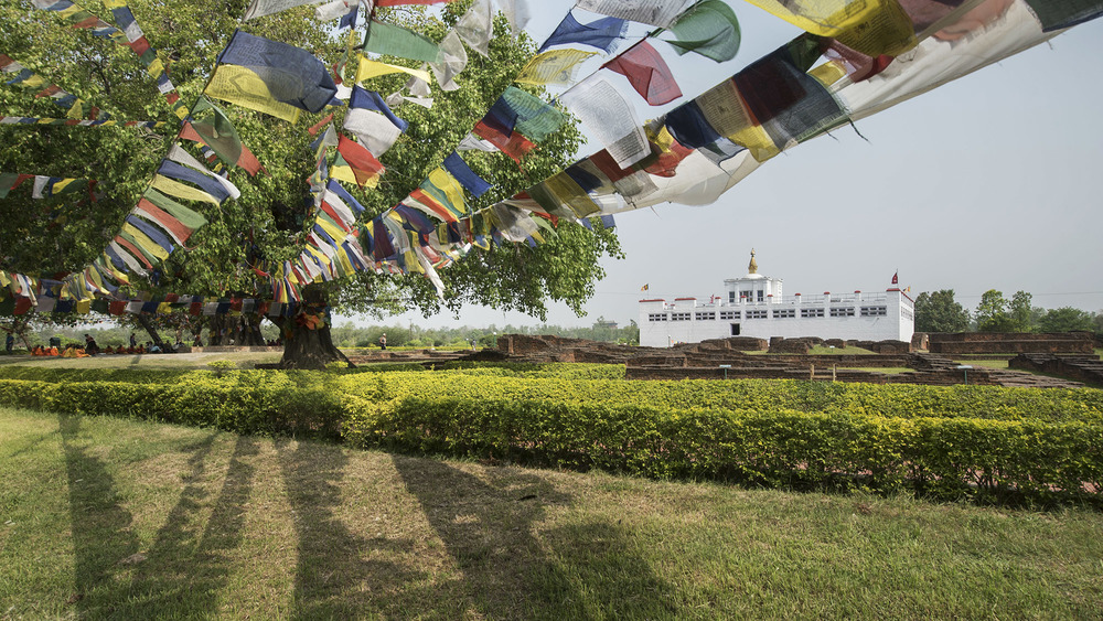 The Maya Devi Temple, the exact location where Princes Maya Devi gave birth to the Buddha, Siddartha Gautama. Lumbini, Nepal.