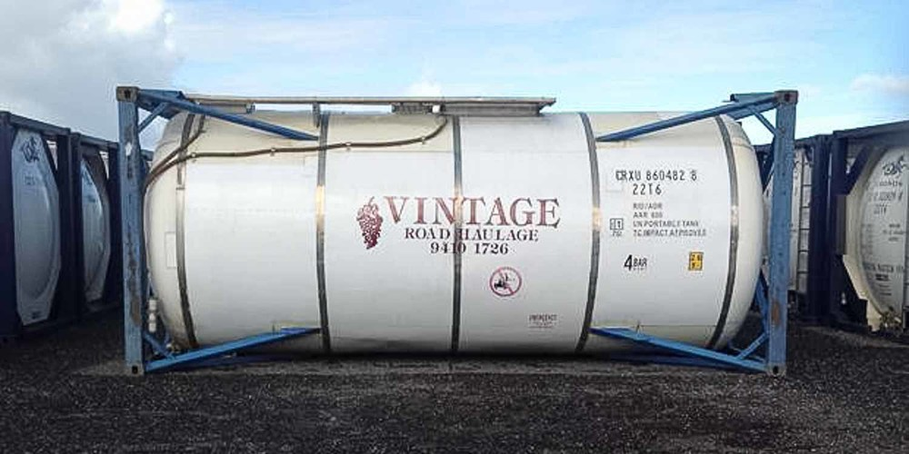 ISO tank of 26,000 liter, the kind we use at Premier Wine Broker.