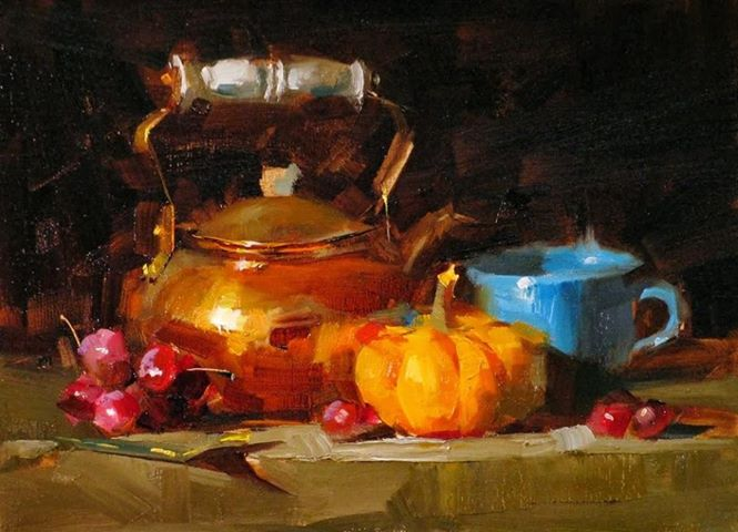 QIANG HUANG                                                 NEW WORKSHOP!  FOR NOVEMBER 2016 !! WORKSHOP FULL!! Wait List available 4 Day Still Life Oil Painting Workshop w/ Qiang Huang November 11-14 2016. Please check his website for list of supplies. cost is $375 Qiang's approaches to still-life painting will be demonstrated with particular focus on composing dramatic setups by observing the light distribution, and using bold and loose strokes to create a powerful and accurate representation on canvas. Using demonstrations, presentation, and individual assistance, Qiang will explain his process of creating energetic paintings by manipulating values, colors, edges, and brushwork. Personal attention will be given to each student according to his/her currently skill level and personal goals in art. The workshop is designed for indoor practice with live settings. Workshop location is at 110 E. Hubbard Street, Lindale TX 75771 Deposit is $100 Mail deposit to: Maureen Killaby 520 Woodside Dr., Hideaway TX 75771 Ph: (903) 830-6694. Please note that full payment is required due 1 month before the workshop starts due flight/hotel bookings. Deposit/tuition can only be fully refunded one month PRIOR to workshop start date. No exceptions.