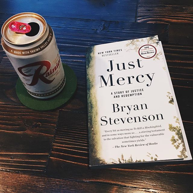 So excited about my first #bookclub! Thank you @kaehands and @katiejpitt 😍  #justmercy #books #bookstagram #bryanstevenson