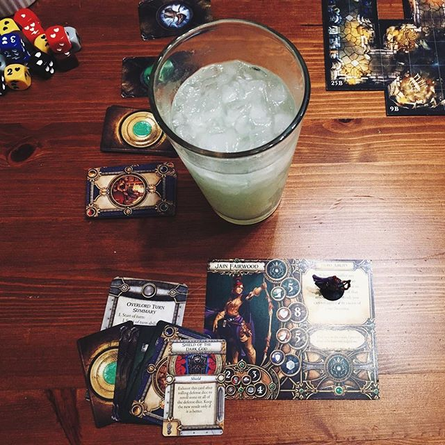 Friday night #Descent and margaritas 🍹🐲 with our new best friends. Sorry non-nerdy other best friends