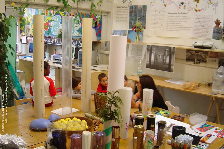 Taller/atelier en un centro educativo en Reggio Emilia (Italia)
