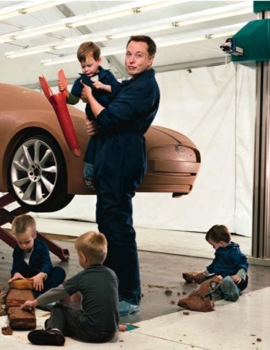 Elon Musk y sus hijos