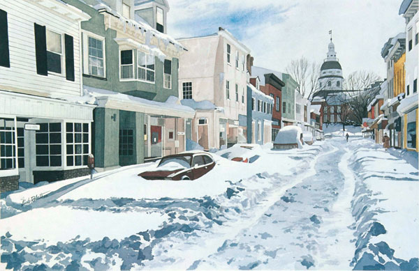 $2.00   Notecard, Annapolis Adrift Winter in Annapolis, Maryland