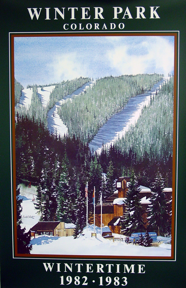 $30.00   22 x 34, Commemorative 1982-1983 Winter Park Resort Poster - Winter Season