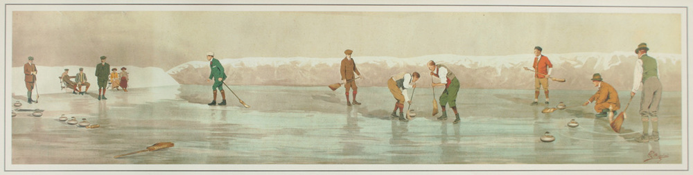 "Carlo Pellegrini (ITA), Winter Sports, Gold Medal Winner in the ""Painting"" Category of the 1912 Stockholm Olympic Art Competitions."