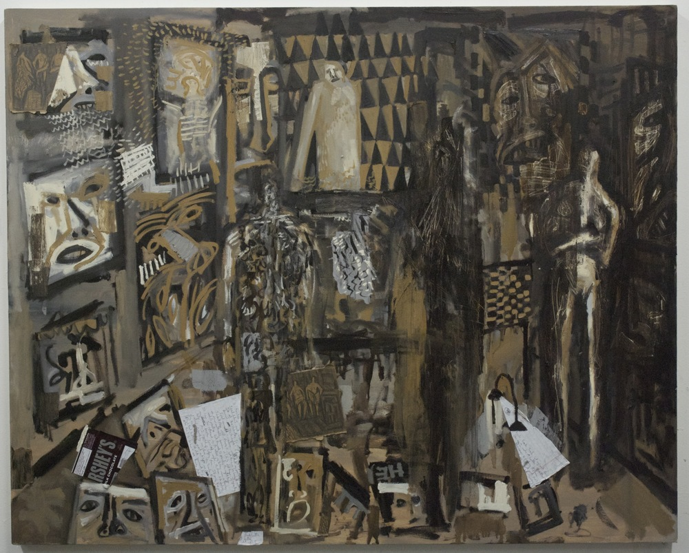 Studio Visit: Kat's Studio , oil on canvas, 48x60 inches, 2013