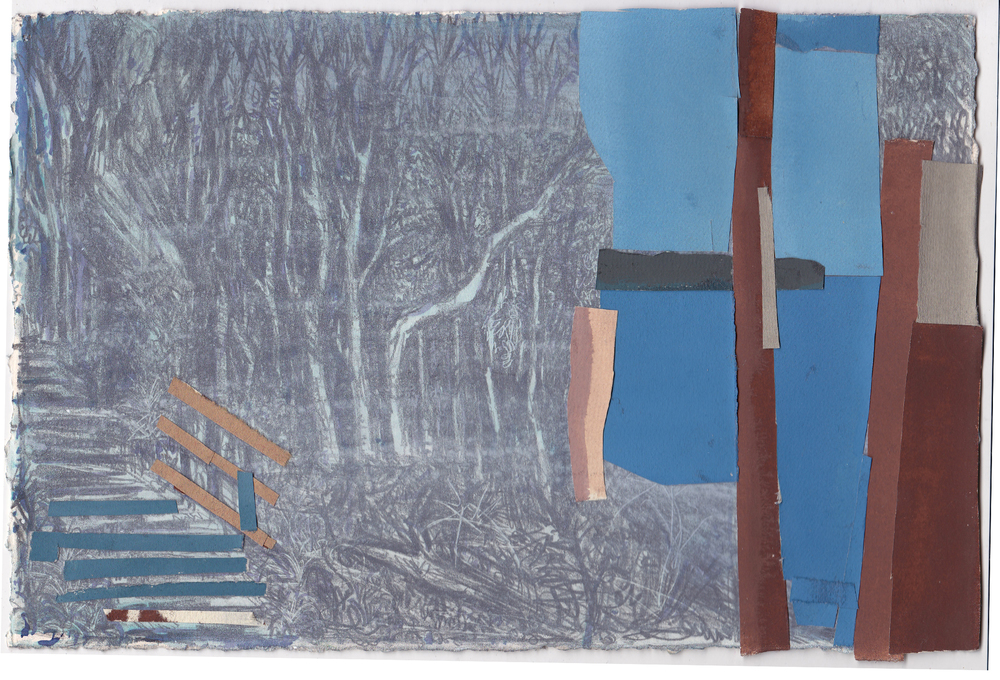 Untitled (Discovery Park) , gouache and  graphite on paper,  7.5x11.5 inches,    2014