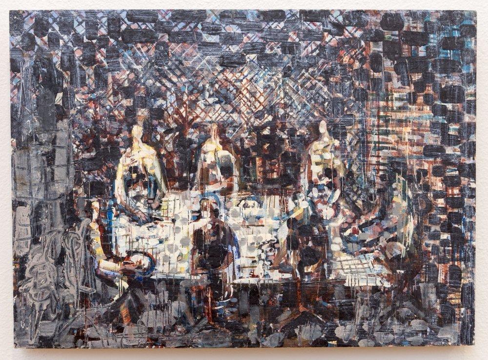 I am Judas , oil on panel, 2015