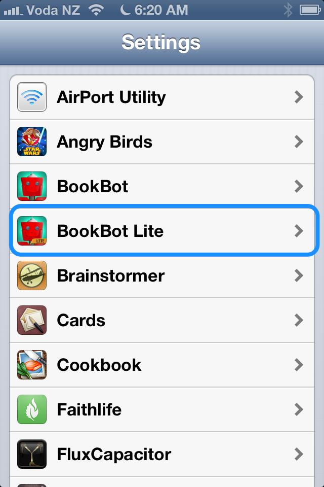Tap BookBot Lite