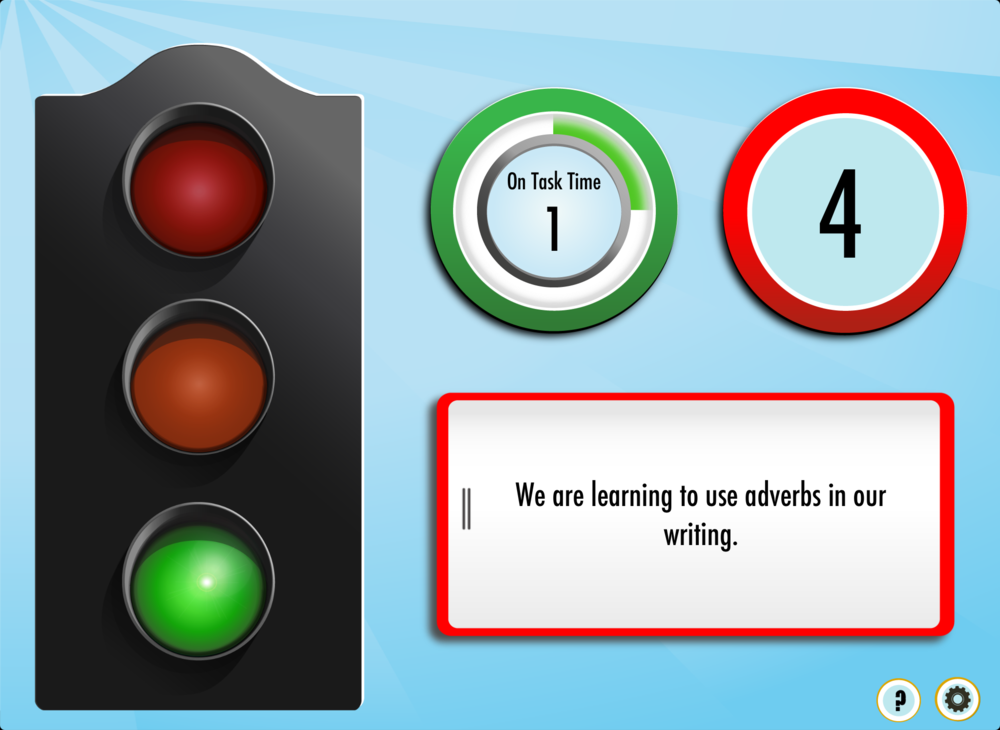 Subtle cues allows learners to manage their own noise level.