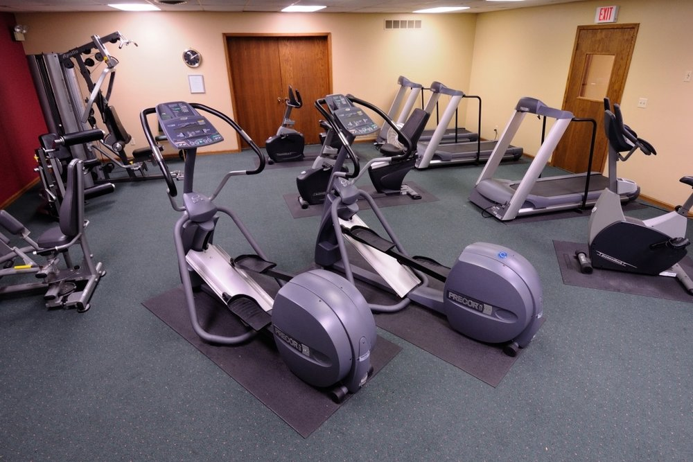 Fitness Center - The LPN fitness center offers both cardiovascular and strength training equipment. Train on high quality equipment that includes three treadmills and life cycle bikes, two elliptical cross-trainers and weight machines. A wall-mounted flat screen television will help make your workout fly! Fitness memberships are available on an annual basis.