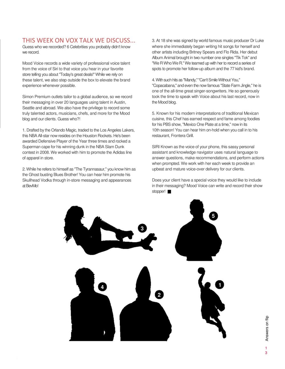 Article for internal newsletter