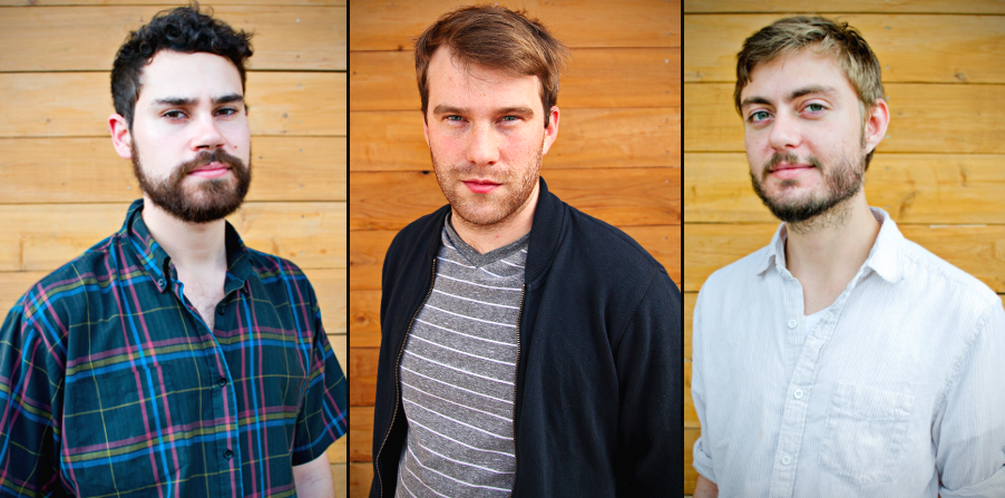(left-to-right) Jared Kinsler, Jake Linder, and John Parsons | We design music and sound for storytellers.