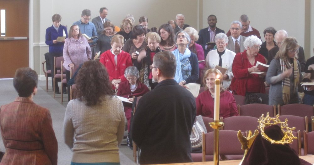 Ravensworth at worship, welcoming a new member